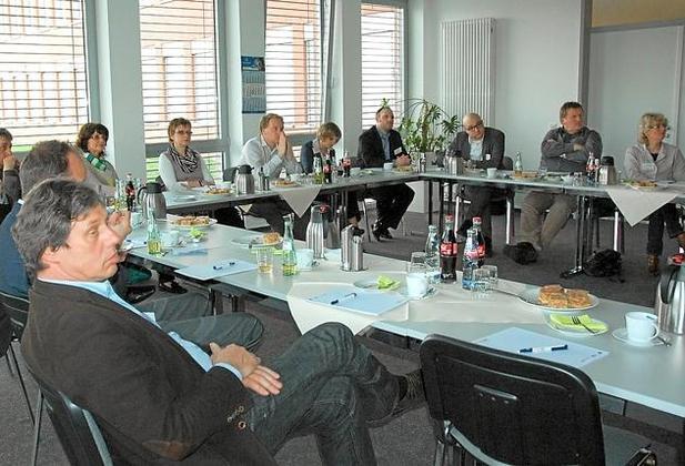 Bild: Netzwerktreffen bei der Firma Münstermann in Telgte-Westbevern
